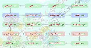 شجره نامه مبارک رهبر معظم انقلاب اسلامی، حضرت امام خامنه ای (حفظه الله)